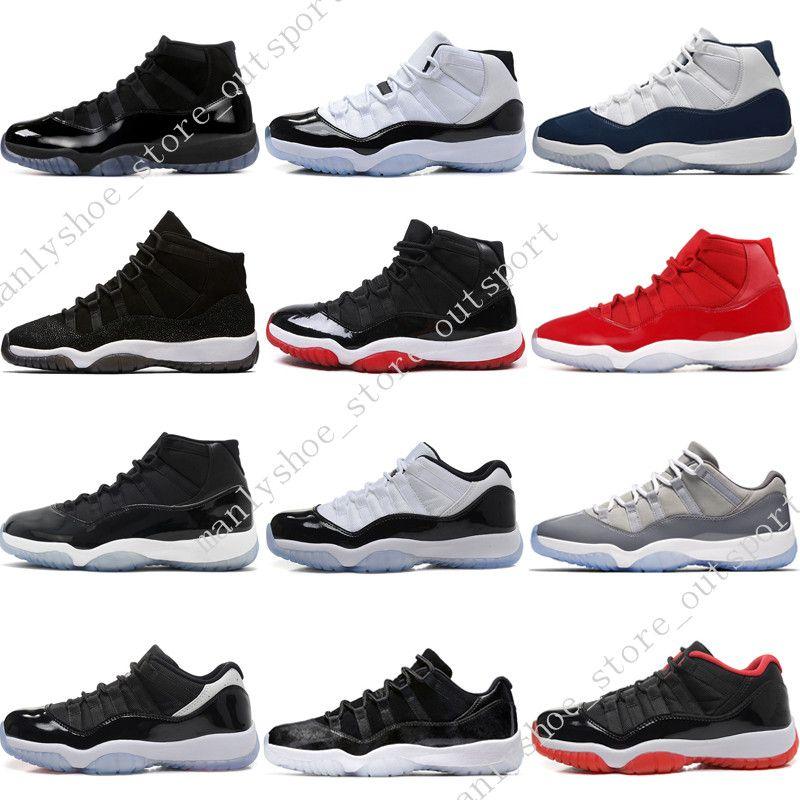 Новый 11 11s Cap и платье Prom Night Mens Basketball обувь Gym Red Бред PRM Наследница черный Stingray бароны мужчины спорт кроссовки открытого Womens