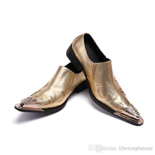 Christia Bella Новые Роскошные Золотой Кристалл Мужчины Платье Обувь Мода Bling Плоские Туфли Скольжения На Партии Формальные Обувь