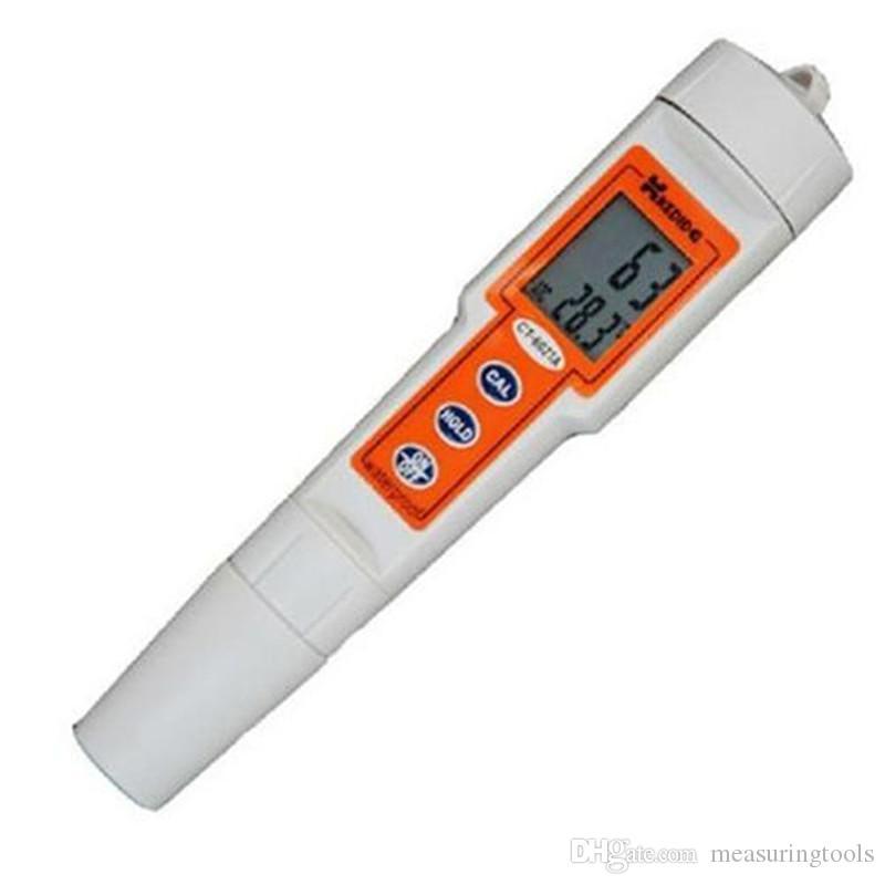 디지털 PH 미터 Protable 테스터 펜 형 듀로 미터 산도 미터 pH 탐지기 CT-6021A 수족관 범위 0 ~ 14 pH 모니터