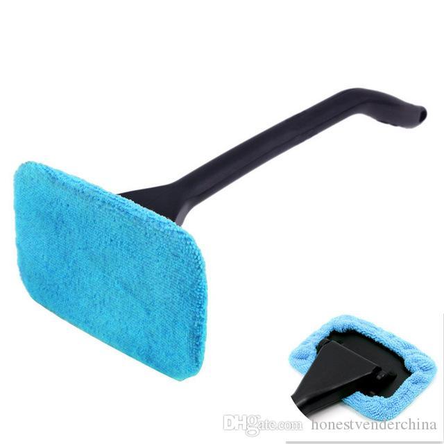 Microfiber Auto Janela Limpador Longa Lavadora de Carro Brush Brush Lavador de Vidro Limpador de Pano Limpeza Brush Tool Washable Handy Rag