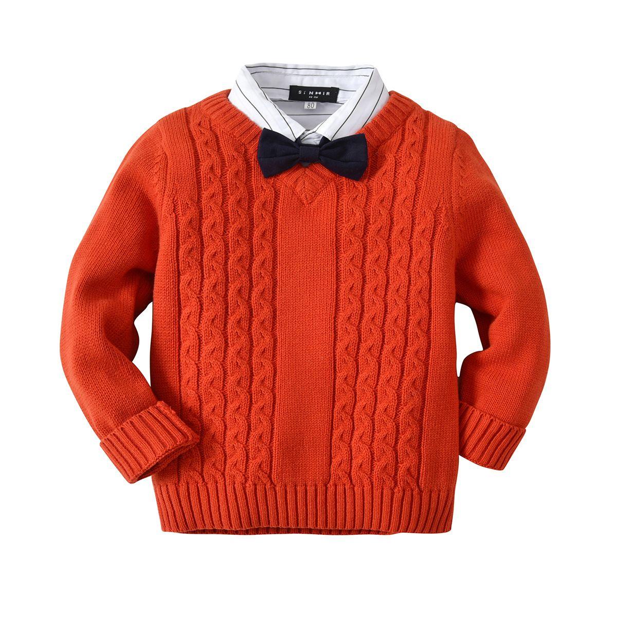 Kinder Pullover Jungen Pullover Kinder Pullover 2018 Frühling Herbst Baby Junge Gestrickte Obere Winterkleidung