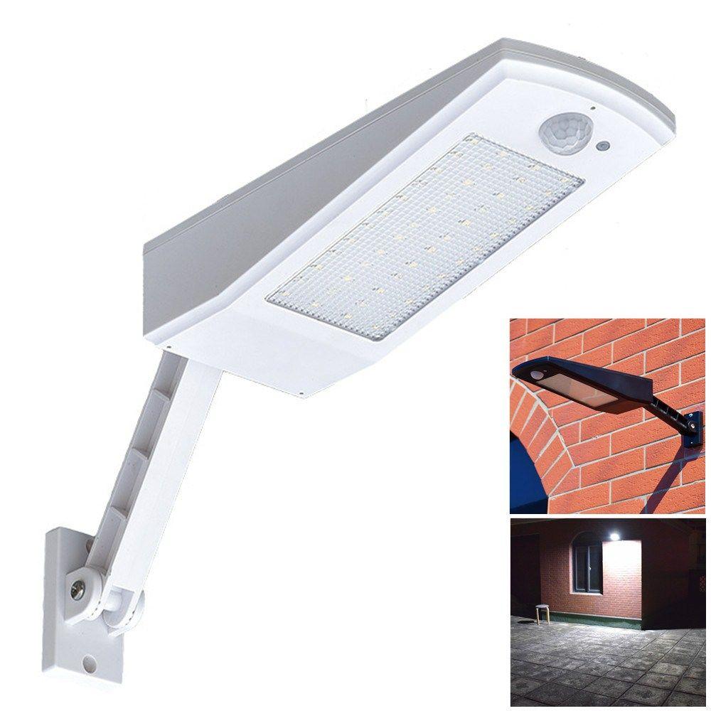 Newest Design Wireless Solar Light 48 LED 900LM 4500mAh Auto PIR Motion Sensor Garden Wall Lamp For Outdoor Waterproof Lighting