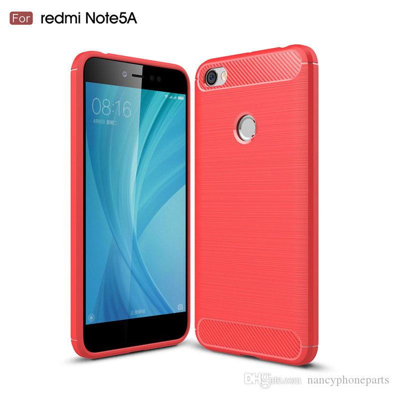 FOR Xiaomi Redmi Note 5A PRO Prime Case Soft Back Cover For Xiaomi Mi 5  Plus Shockproof Phone Cases Carbon Fiber TPU Wallet Cell Phone Case  Ballistic