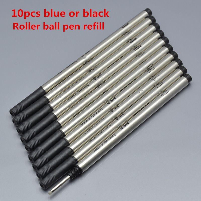 Venda quente-10 pcs de alta qualidade marcas Monte preto e azul recarga para roller ball pen recarga Escrita especial acessórios de tinta