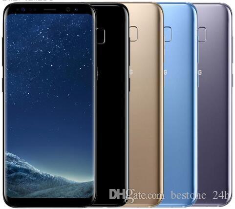 Débloqué ROM d'origine pour Samsung Galaxy S8 4 Go de RAM 64 Go Simple écran Octa Core 5.8 pouces androïde d'empreintes digitales Smartphone téléphone remis à neuf