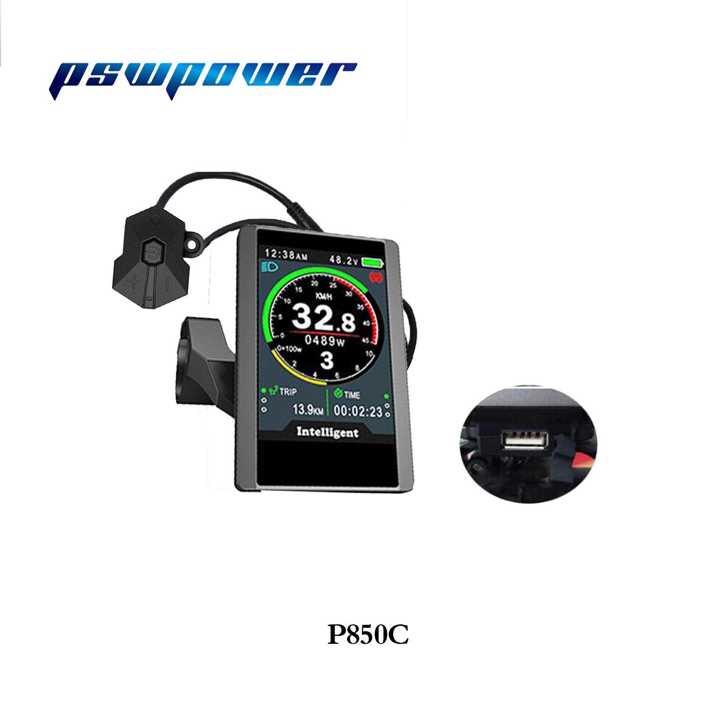 전기 자전거 8FUN 팔방 중반 드라이브 모터 BBS02 및 BBSHD에 해당하는 풀 컬러 LCD의 P850C DPC-14 디스플레이 (36V / 48V)
