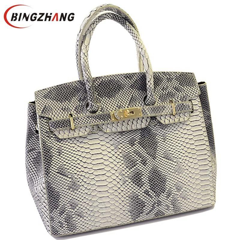 Borse moda pelle di serpente di marca delle donne borsa 2018 nuove donne di alta qualità borse messenger borse a tracolla in pelle designer L4-788 Y18102303