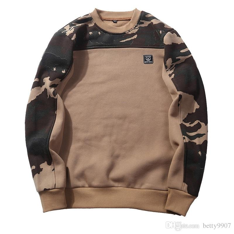 Mens Designer Hoodies Sweatshirt Top Sports Coat Camo Pattern Fleece Lining Long Sleeve Spring Autumn Casual Clothes