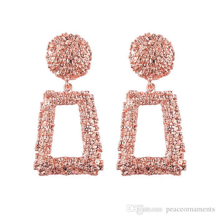 Designer Earrings Jewelry Metal 6 Colors Earrings Female Luxury Maxi Silk Thread Bohemian Red Geometry Big Earrings For Women Jewelry Gift