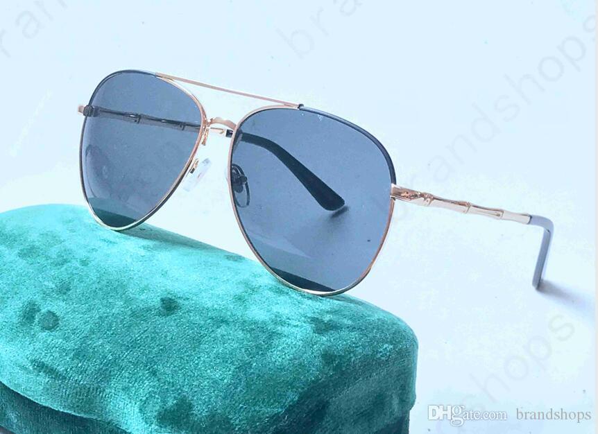 2018 Yüksek kalite lüks retro Alaşım çerçeve erkekler marka tasarımcısı vintage Gözlük LADY Güneş gözlükleri kadın gölge Moda UV güneş ...