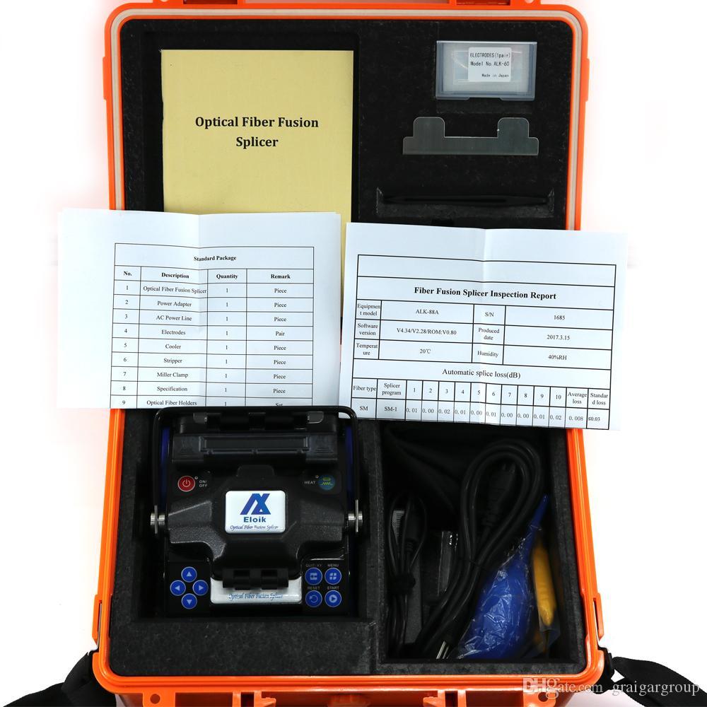 New Eloik ALK-88A Portable 4.3' LCD Fiber Optic Splicing Machine 7s Fast Splice Fusion Splicer