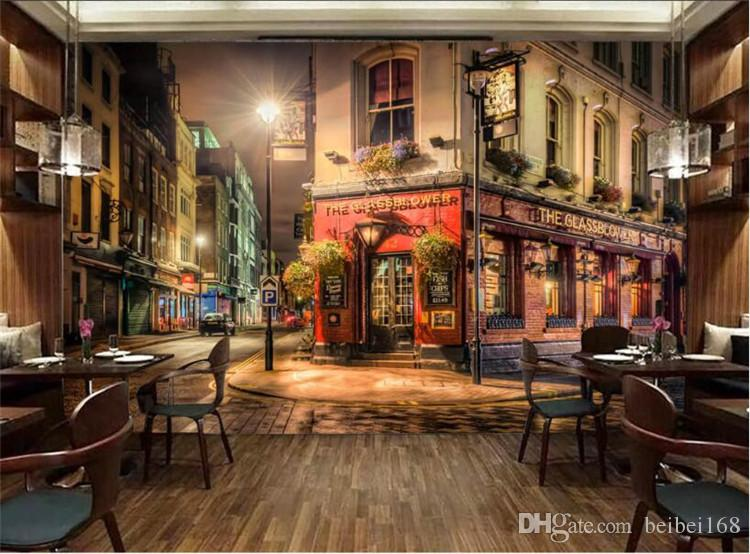 European Wallpaper Retro Old City Large Photo Wallpaper Wall Papers Home Decor Art Painting For Living Room Vintage City Night Free Animated