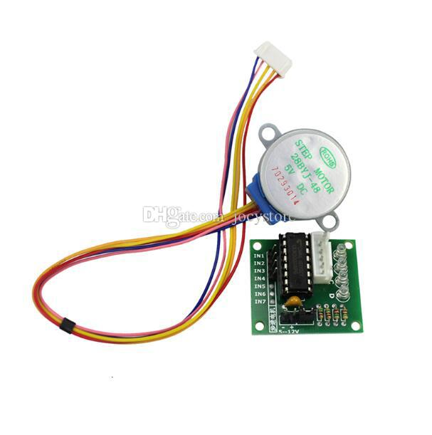 5LOT 5V 4 상 스테퍼 스텝 모터 + 드라이버 보드 ULN2003 드라이브 테스트 모듈 기계 보드 arduino Raspberry pi kit