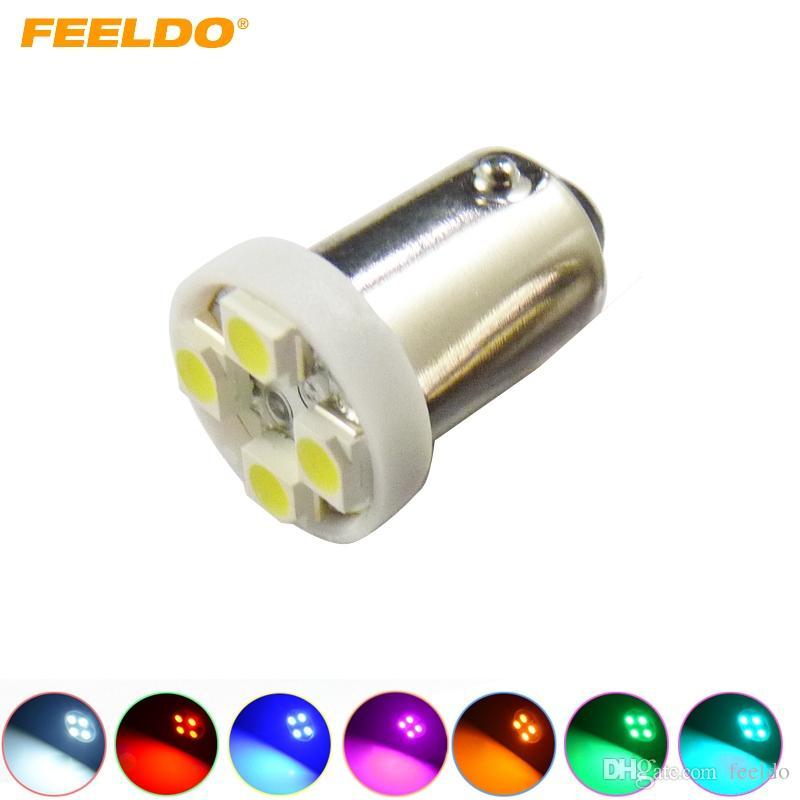 FEELDO 50 ADET 7-Color BA9S T4W 1895 3528/1210 4SMD 4LED Araba LED Işık Pano Işık Kapı Işık 12 V # 2639