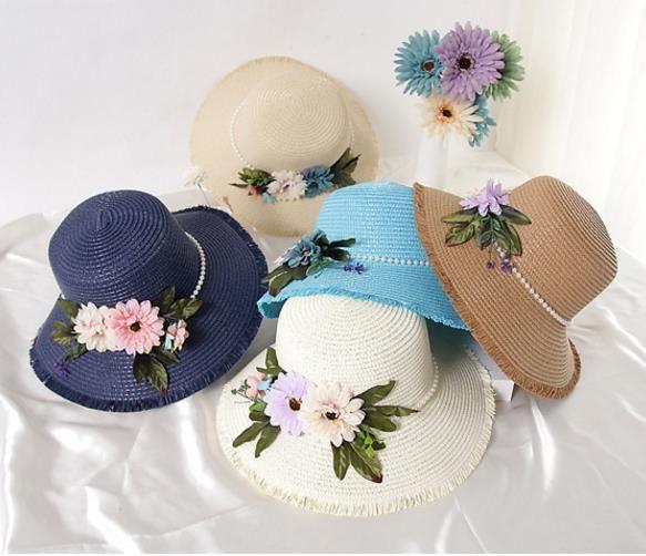 Flores feitas à mão chapéu de palha Ms chapéu de palha grinalda de férias de verão o borla chapéu de sol palha QUENTE VENDER