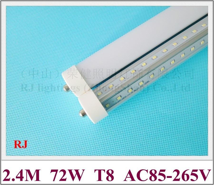 FA8 T8 LED Röhre Leuchtstoffröhre LED bulb Lampe zweireihigen 2400mm 8FT 72W 270 ° Abstrahlwinkel FA8 V-style