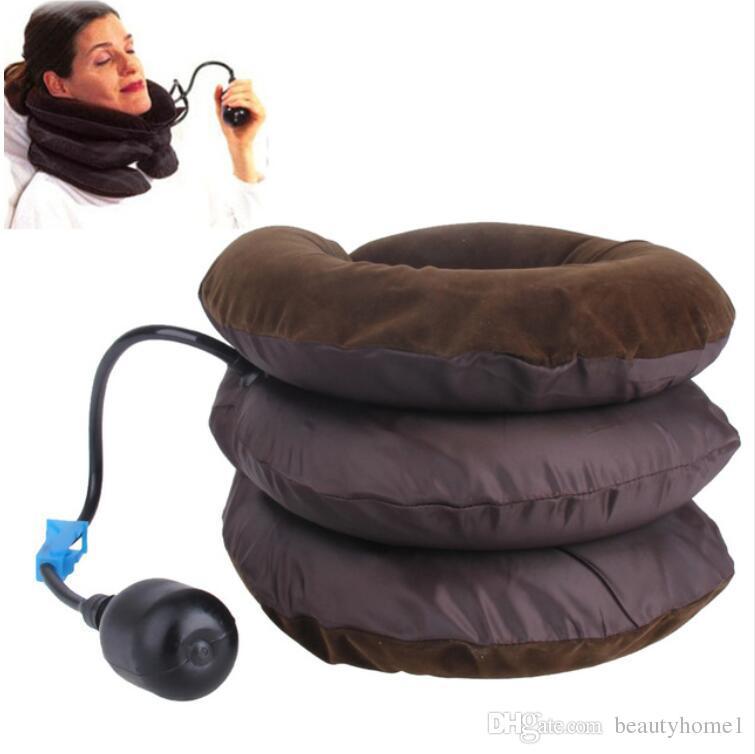 Aire Cuello cervical Tracción Soporte para dispositivo blando Soporte para la tracción cervical Espalda Hombro Dolor Alivio Masajeador Relajación Cuidado de la salud