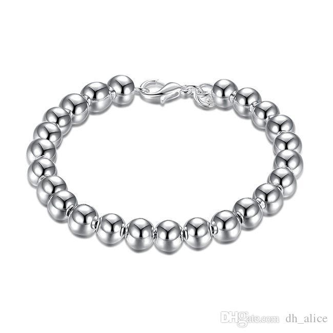 8M Bracciale - argento Hollow braccialetto placcato; I nuovi uomini e donne braccialetto in argento 925 SPB126 modo di arrivo