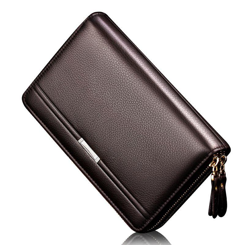 New Brand Business wallet men's pocket coin men purse Large capacity multi-card bit Casual Clutch portfolio Fashion wallet 2018