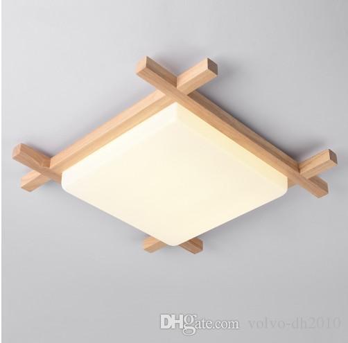 Светодиодные деревянные потолочные светильники в квадратной форме lamparas de techo для спальни балкон коридор кухня светильники LLFA