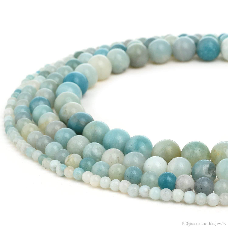 Tsunshine 8mm de gros de qualité supérieure pierre naturelle pierre précieuse rondes perles en vrac pour bijoux de bricolage faisant européen