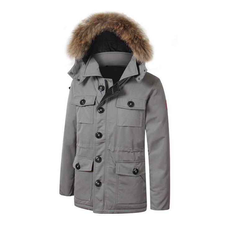Marka kış moda Canadadown ceket erkek kalınlaşmak rahat rahat kalınlaşma sıcak Aşağı palto kaz tüyü ceket kış ceket
