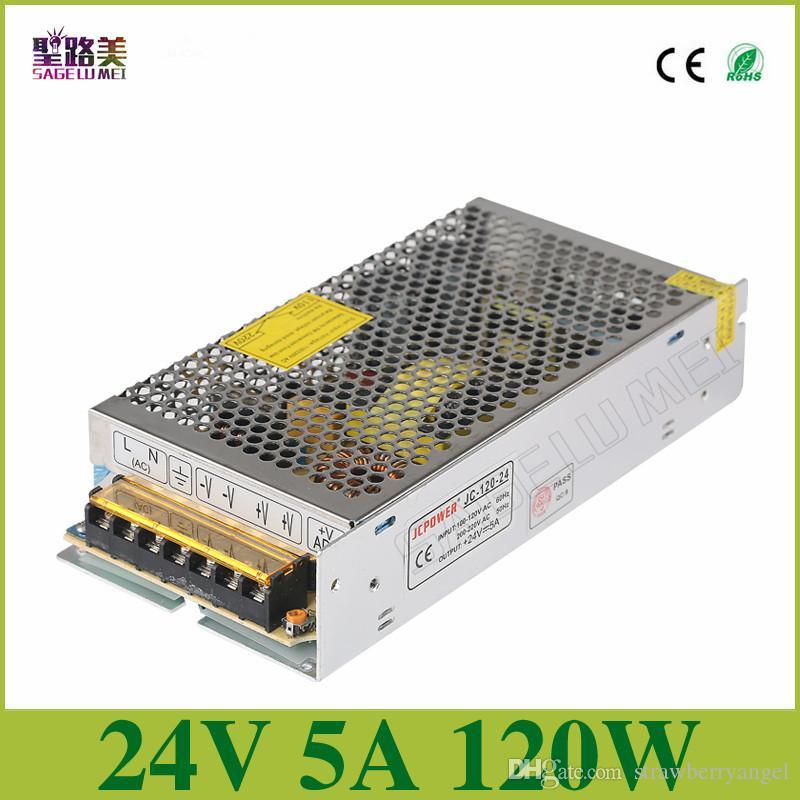 Trasformatore elettronico di alimentazione con commutazione universale, uscita DC24V 5A 120w, ingresso 110v-220v Driver, striscia LED PSU CCTV