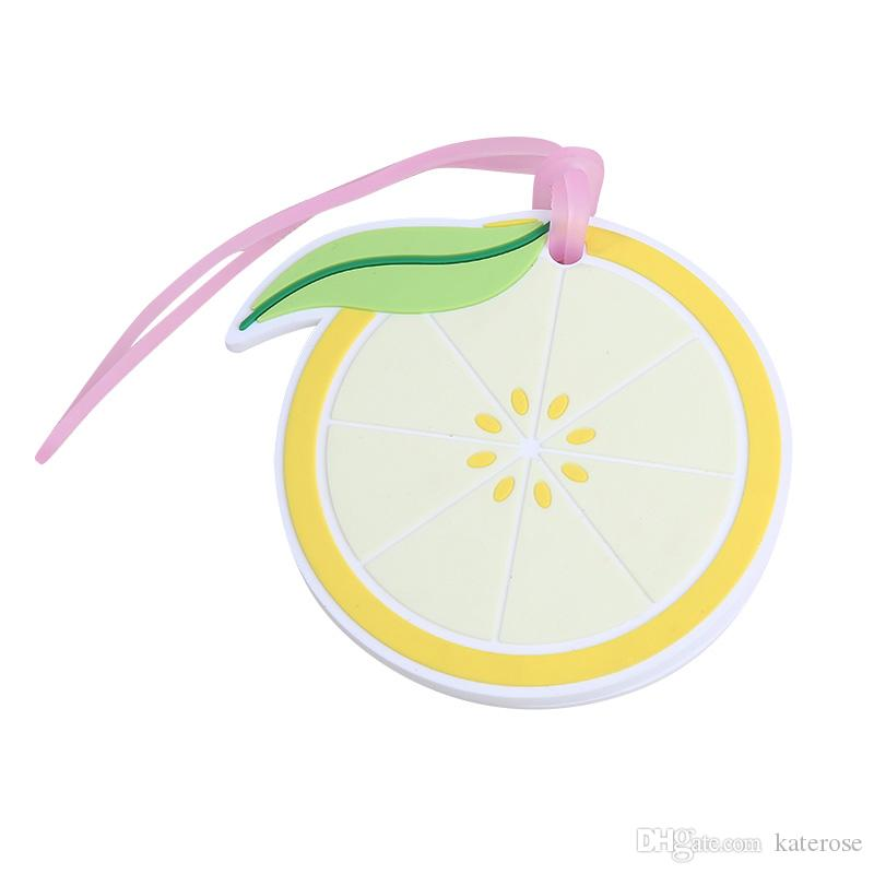 50PCS 고무 레몬 슬라이스 수화물 태그 열대 대상 결혼식은 고객 드롭 배송에 여행 파티 경품을 부탁