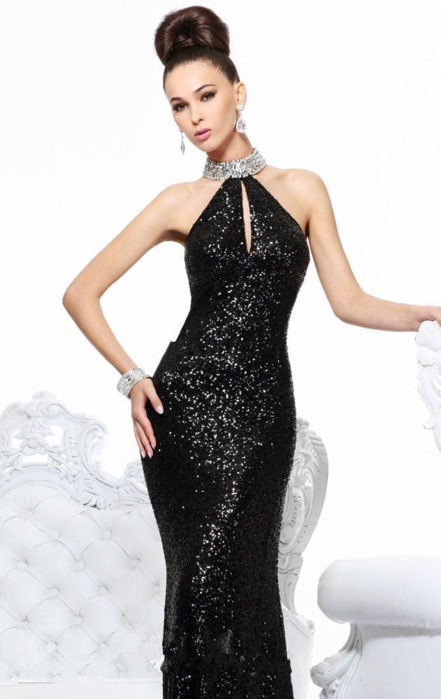 free shipping 2018 new sexy Rhinestone vestido de festa crystal beaded slit style dress black long Evening gown party prom dress