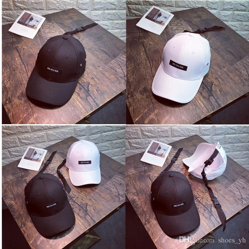 Cappello da donna estate lettera ricamo lungo cinturino berretto da baseball moda selvaggio berretto marea persone sole visiera maschile