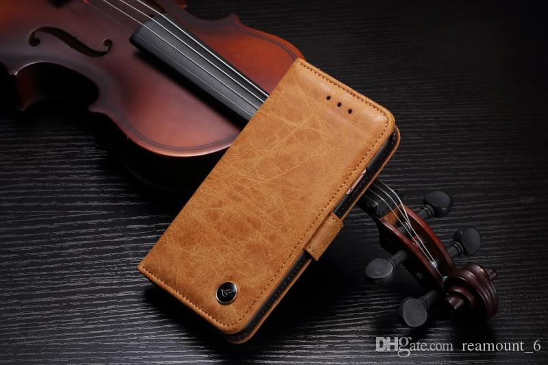 Retail 30 pcs Wallet Case Retro Leather PC Case for Samsung S7 edge Card Pocket Cell Phone Protector for iPhone 8 7 Plus