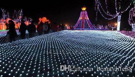 3 متر * 2 متر 210LED شبكة سلاسل شبكة الجنية ضوء سلاسل ضوء حفل زفاف عيد مع 8 وظيفة تحكم الولايات المتحدة. المملكة المتحدة التوصيل