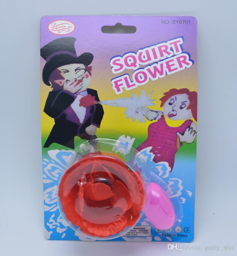 Hot Party Prank Toys Squirt Flower Prop Niños Party Simulado Spray de Agua Apoyos Niños Juguetes Divertidos Envío de La Gota