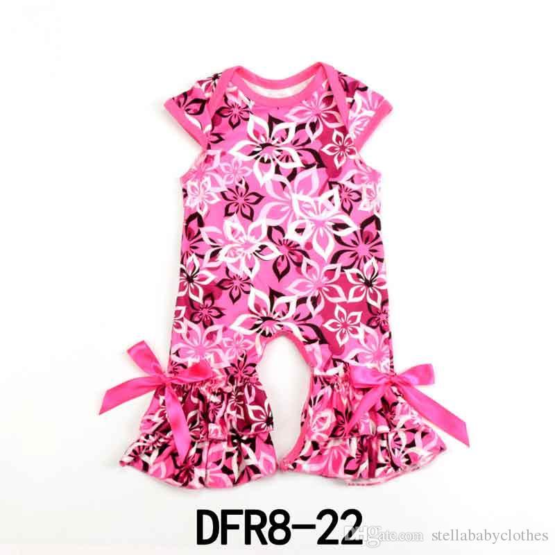 Botique Toddler Girls Kids Floral Romper Jumpsuit Playsuit Sunsuit Clothes 2-7Y