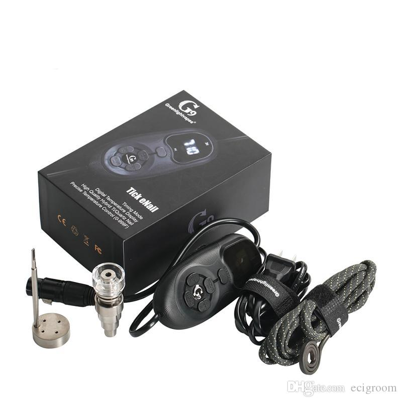 G9 autêntica Tick Enail Henail Kit QuartzTitanium prego Portátil E prego Rig Dab Vape para o óleo de vidro Bong 100% Original