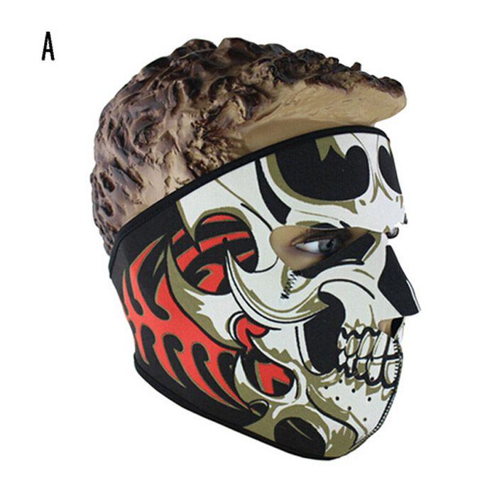 Neopren Tam Kafatası Yüz Maskeleri Cadılar Bayramı kostüm partisi yüz maskesi Motosiklet Bisiklet Kayak Snowboard Spor Balaclava