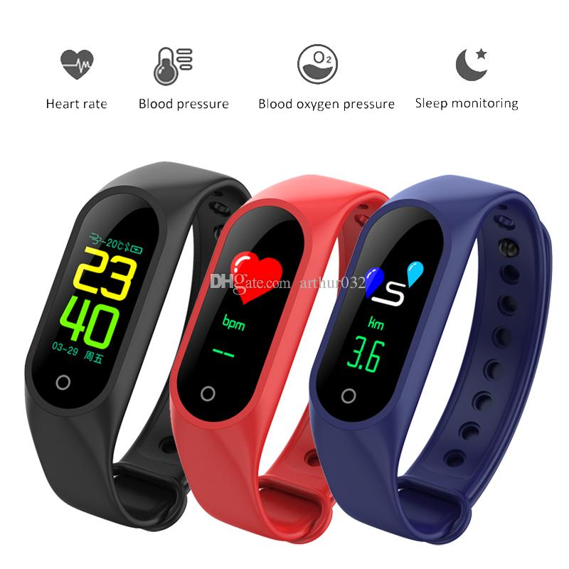 M3 Smart Band Color LCD Screen Fitness Tracker Bracelet IP67 Waterproof Wristbands Heart Rate sleep Monitor for IOS Android
