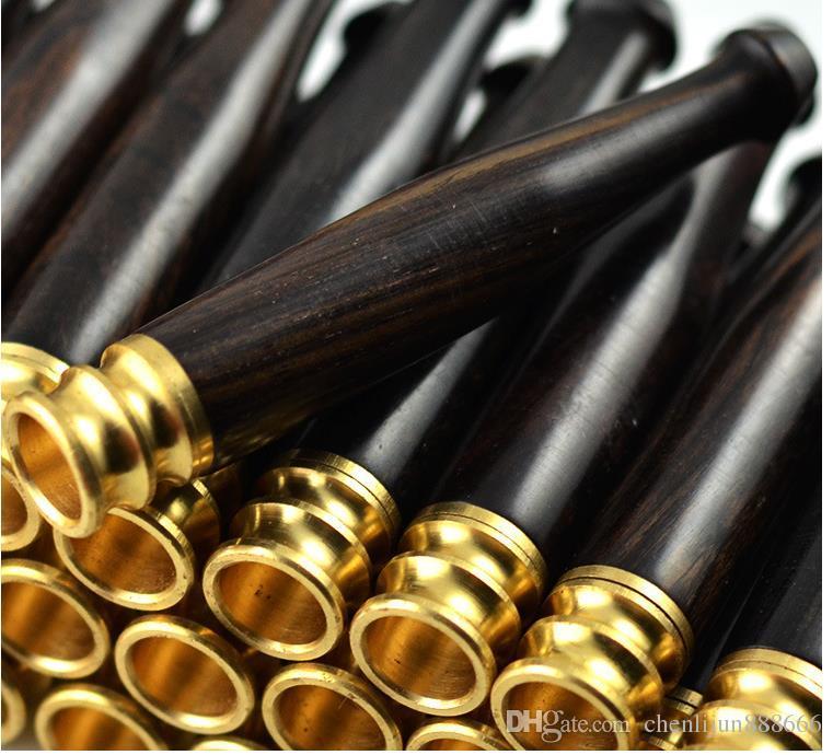 에보니 흑단 로즈 우드 트럼펫 마우스 피이 피 피 6cm 긴 담배 홀더