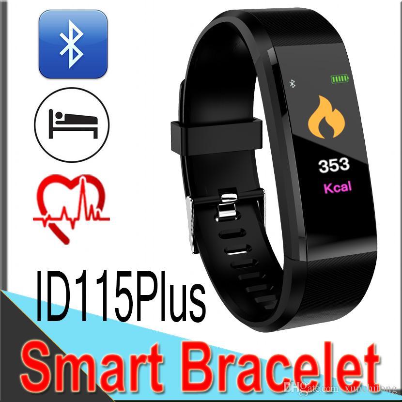 ID115 плюс водонепроницаемый смарт браслет Браслет монитор сердечного ритма артериального давления часы шагомер фитнес-трекер группа XD2S