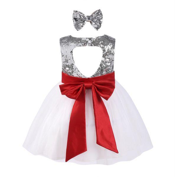 Mikrdoo 2018 Baby Girl Bow Princess Dress Kids Sleeveless Love Heart Tutu Tule Dresses Birthday Formal Wedding Party Wear Clothes