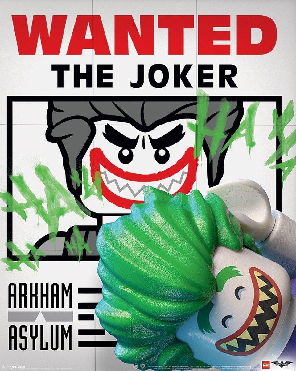Лего Бэтмен Джокер искусство шелк плакат 20x30 24x36 24x43