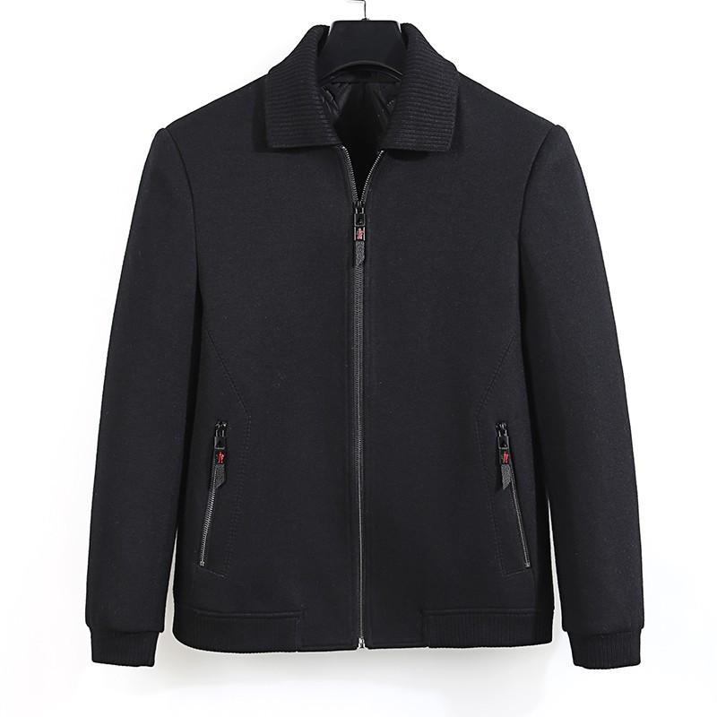 8XL 6XL 5XL 4XL Men's casual Wool Blend jacket Male single woolen mens coats outwear Windbreaker men coat