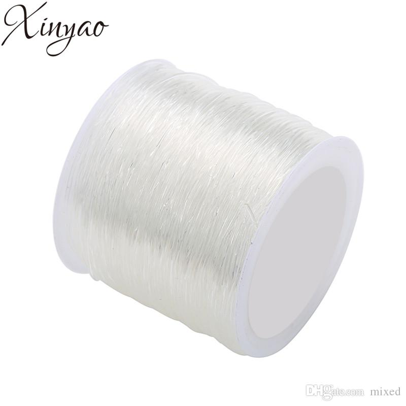 XINYAO 2018 0.5/0.6/0.7/0.8/1.0/1.2/1.5mm Size Round Elastic Crystal Wire White Strong Thread Rope for DIY Jewelry Making F7401