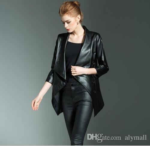 Veste faux cuir femme grande taille