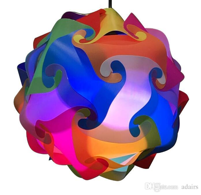 جديد الحديثة diy قلادة الكرة رواية iq أضواء مصباح قلادة ضوء غرفة الطفل مصباح ، حجم 25 سنتيمتر / 30 سنتيمتر / 40 سنتيمتر ysliqr مجانية