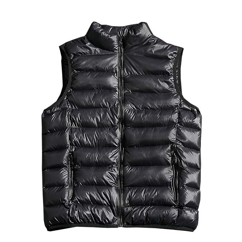 2018 neue mode einfarbig männer ärmellose jacke beiläufige winter weste männlich schlank weste mens winddicht warme weste 4XL 5XL