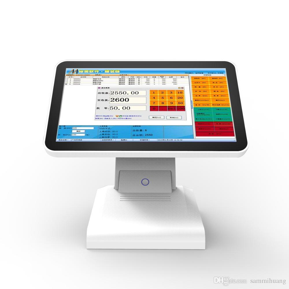 HSPOS 11.6 인치 LED 디스플레이는 32G SSD 고속 HDD로 방수 방진 POS 터치 스크린 금전 등록기를 보호합니다