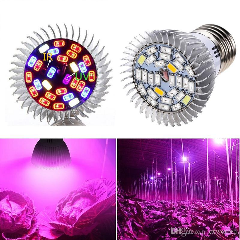 10W LED Grow Lampadina E27 E14 GU10 LED Grow Light Spectrum Lampada 28LEDs SMD 5730 Pianta Grow Light AC 85-265V