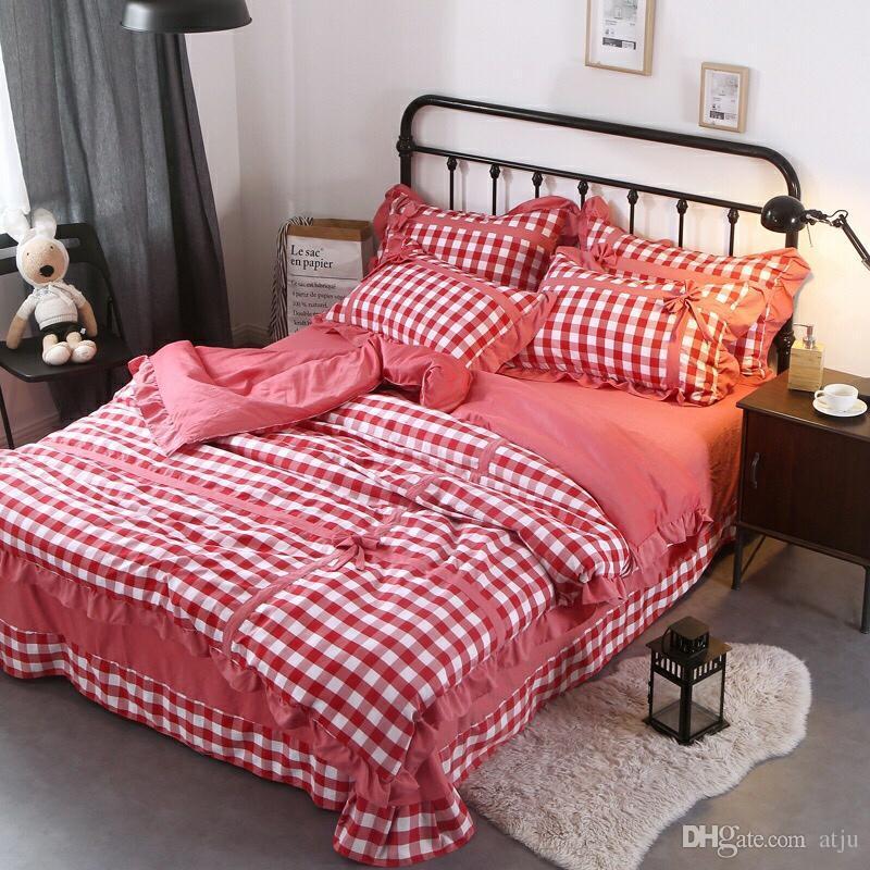 Großhandel Heimtextilien Bettbezug Blau Liebesbrief Gedruckt Baumwolle Bettwäsche Set Einzel Doppel König Quilt Bettbezug Bettlaken Kissenbezug
