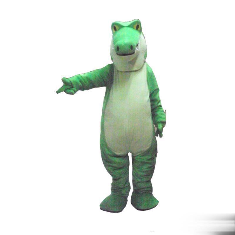 2018 alta calidad caliente cocodrilo cocodrilo felpa traje de la mascota traje de tamaño adulto traje de lujo envío gratis